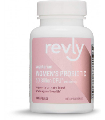 Amazon Brand - Revly Women's Probiotic 50 Billion CFU, 7 strains, Lactobaccilus and Bifidobacteria blend, 30 Capsules or 1 Month Supply