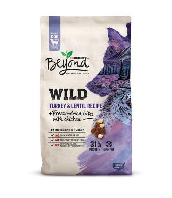 Purina Beyond Wild Grain Free Natural High Protein, Turkey and Lentil Recipe + Freeze Dried Bites With Chicken Dry Dog Food, 3Lb Bag