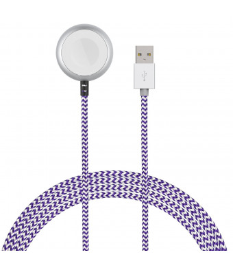 Element Works EW-AWBRC-PL Charging Cable for Apple Watch - Purple/White