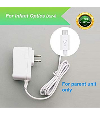 For Infant Optics DXR-8 Baby Monitor Charger Power Cord Replacement Adapter Supply Compatible with DXR-8, 5V, 6.6Ft.