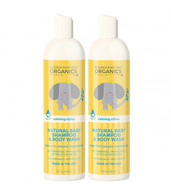 Organic Baby Shampoo and Body Wash  Tear-Free Shampoo for Toddlers and Kids  Chemical-Free Natural Body Wash  Made in the USA - Calming Lavender and Citrus Essential Oils Baby Wash and Shampoo 2 in 1 by My