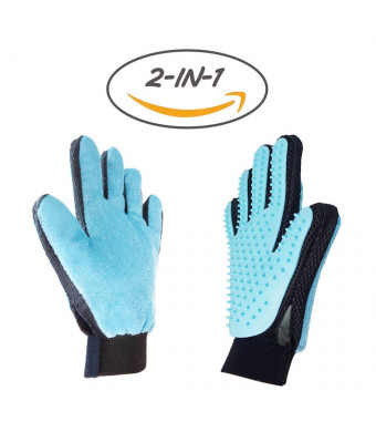 go-tronic Asenku the most comfortable gloves to take care of your dogs, cats and other pets.(Bleu, 2 Paire)