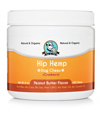 Natural Hemp Dog Chews - Organic Hemp Seed Oil, Omega 3 and 6, Cranberries, Urinary Health, Reduced Joint Pain, Improved Skin and Fur