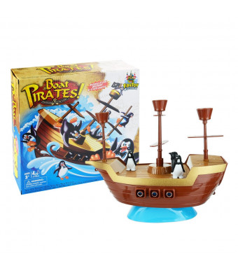 Favtoy Dominion - Don't Rock The Boat Balance Pirate Pieces on The Ship Game Multiplay Board Game for Adults and Kids