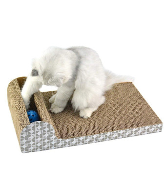 YujueShop Cat Scratching Post pad mat with Ball Placed in a Side Groove of The Shelf