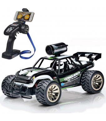 Rc Remote Control Cars with FPV Camera HD 720P, 2WD 1/16 Scale 2.4Ghz Rc Trucks, Electric Car for Adults Kids Gifts, High Speed 15km/h RC Vehicle, Also Controlled by WiFi