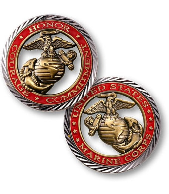 U.S. Marines Corps Core Values Challenge Coin