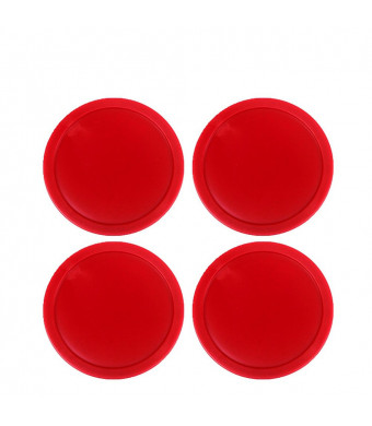 Ellen Tools Set of 4 Red Home Standard Air Hockey Pucks -- Large Size Adults 2.95 inches, 75mm