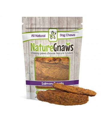 Nature Gnaws Smoked Salmon Jerky Strips - 100% Natural Grain Free Dog Treats