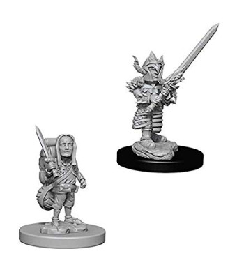 WizKids DandD Nolzur's Marvelous Miniatures: Male Halfling Fighter