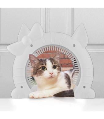 Sailnovo Pets Cats Door Flap for Medium Large Cats Dogs Freely Coming in and Going Out, Interior Cat Door Hidden Litter Box Pet Door
