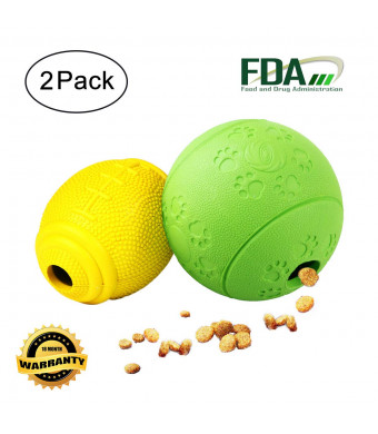 AD Treat Ball - Interactive Dog Toys - Non-Toxic and Durable Rubber Treat Food Dispenser IQ Ball for Pet Puppies and Cat Chasing Chewing Playing