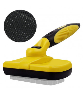 FAOUGESS Dog Grooming Brushes Pet Self Cleaning Slicker Brush Easy to Clean Professional Home Shedding Tools Reduce Loose Undercoat Fur Hair Up to 95% for Short Long Dogs Cats Animals