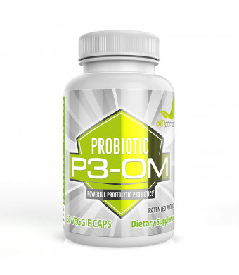 P3-OM - Best Probiotics for Women and Men - Dr. Formulated - No Refrigeration Needed - Patented Single Strain - Boosts Immunity - Supports Digestive Health (60)