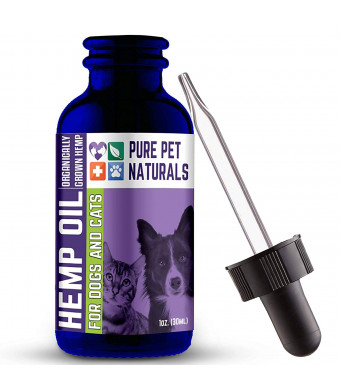 Full Spectrum Natural Hemp Oil For Dogs - (250mg) Anxiety And Joint Pain Relief For Pets - Veterinarian Formulated - Easily Applied On Food Or Treats - USA Grown And Produced - Veteran Owned Company