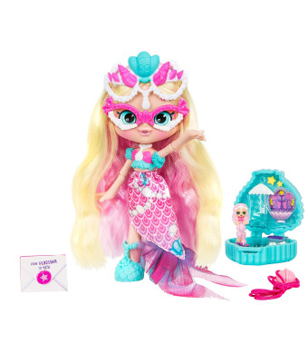 Shopkins Lil Secrets - Collectable Shoppie Doll with Wearable Locket - Pearlina