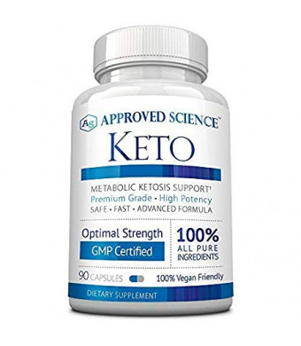Approved Science Keto: Pure Exogenous 4 Ketone Salts (Calcium, Sodium, Magnesium and Potassium) and MCT Oil to Boost Ketosis and Burn Fat. 1 Bottle