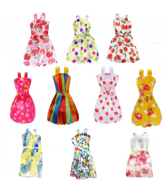 Pakala66 Total 10pcs-Doll Clothes Set Great Gift Toy for Children
