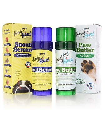 Handy Hound Paw and Snout Bundle | Paw Butter | SnoutScreen | All-Natural Butters, Wax, and Balm for Your Dogs Nose and Paw with Sunscreen | 4 oz