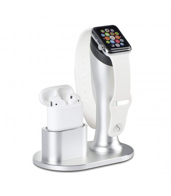 Apple Watch Stand, Aluminum Apple Watch Charging Stand Dock Holder Nightstand Station Compatible with Apple Watch Series 3/2 /1 / Airpods