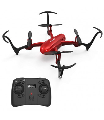 Potensic Mini Drone D10 RC Quadcopter 2.4G 6 Axis with Altitude Hold Function,360 Flip, Headless Mode for BeginnersandKids (Red)