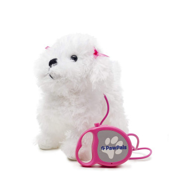 Meva PawPals Kids Walking and Barking Puppy Dog Toy Pet with Remote Control Leash ... (White)