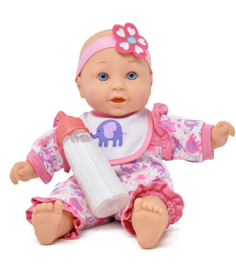12 inch Soft Body Baby Doll, Magic Bottle and Bib Included