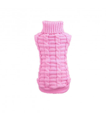 Farjing Puppy Clothing Pet Dog Clothes Winter Woolen Sweater Knitwear