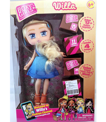 BoxyGirls Willa Doll for Kids Little Toddlers Girls Play Indoor Playtime,Blue