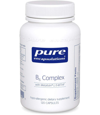 Pure Encapsulations - B6 Complex - Hypoallergenic Dietary Supplement with Metafolin L-5-MTHF - 120 Capsules