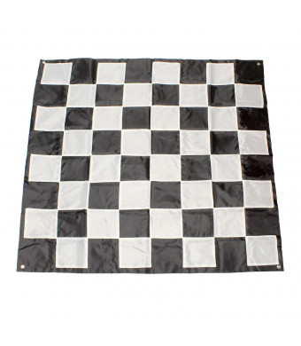 Get Out! | Giant Chess Board Outdoor Games for Family  5' x 5' Ft Plastic Chess and Checkers Rug  Chess and Checkers Mat