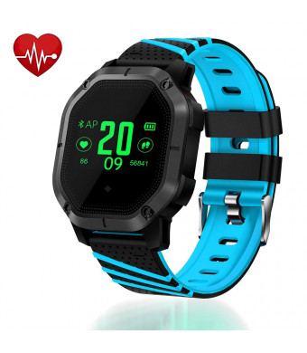 UsHigh Smart Watch Bluetooth Sport Multifunctional Activity Trackers Blood Pressure Heart Rate Sleep Monitor Pedometer Calorie Counter Unisex Waterproof Fitness Band