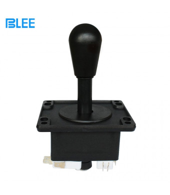 """BLEE American Style Arcade Competition 2Pin Joystick Black Switchable from 8 Ways Operation Elliptical Black Handle Precision 8-Way 187"""" (4.8mm) Terminal"""