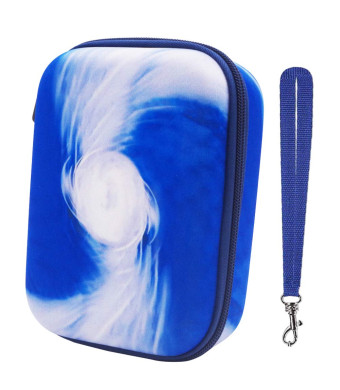 PAIYULE Hard Game Card Case Compatible for UNO Card Game, Fits Up 400+ Cards (Blue)