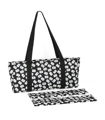 Black Color Tiles Designer Mah Jongg Set Soft Carrying Case (Case Only)