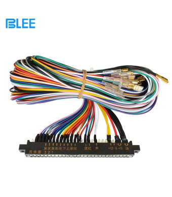 BLEE 1 Unit Arcade Jamma 28PinX2 56 Pin Interface Cabinet Wire Wiring Harness Loom Multicade Arcade PCB Cable for Arcade Machine Video Game Consoles Jamma 60-in-1 Board and Pandora Box 4 5 6 Game