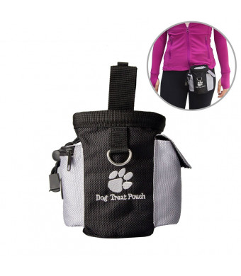Pet Supplies Dog Training Treat Waist Bag Pouch Animal Puppy Obedience Agility Bait Training Food Snack Container Toys Pack Dispenser Carries Training Walking Running