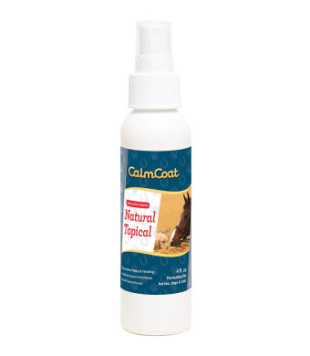 Calm Coat Natural Topical Formulated for Horses Dogs and Cats - Proprietary Blend of Natural Oils to Promote Natural Healing and Relief Skin Irritations - Herbal Scent