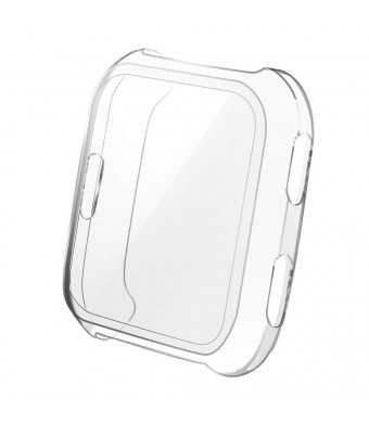 Jblcc Compatible Versa Screen Protector Case, Soft TPU All-Around Ultra-Thin Clear Cover Compatible Fitbit Versa Smartwatch (Transparent)