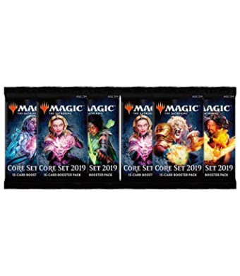 MTG 6 (Six) Packs - Magic: the Gathering Core Set 2019 Booster Packs (6 Pack - 2 Player Draft Lot)