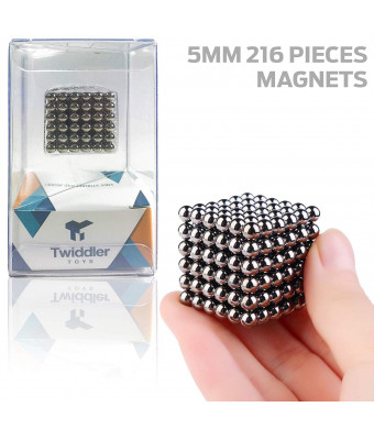 Twiddler Toys 5MM 216 Pieces Rollable Magnets Sculpture Fidget Building Blocks Toys for Intelligence Development  Magnetic Office Toy and Stress Relief for Adults