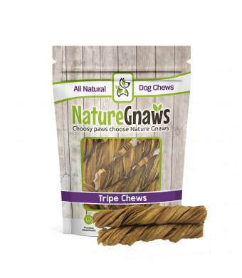 Nature Gnaws Tripe Twists - 100% All Natural Grass Fed Premium Beef Dog Chew Treats