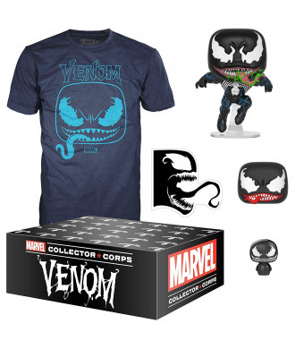 Funko Marvel Collector Corps, Subscription Box, Venom Theme, September, Large T-Shirt Size, Multicolor