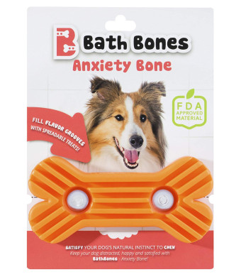 Bath Bones   Anxiety Bone   FDA Approved   Combats Dog's Anxiety During Stressful Events   Simply Spread, Stick and Lick