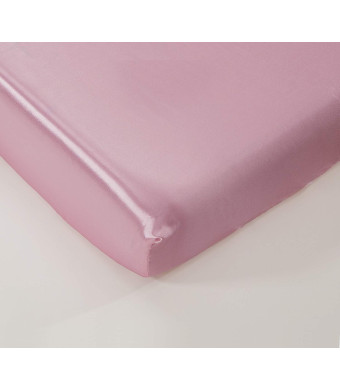 """EHP Super Soft and Silky Satin Crib Fitted Sheet 28"""" X 52"""" + 9"""" (Solid/Deep Pocket) (Light Pink)"""