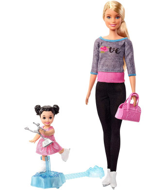 Barbie Ice Skating Coach Doll and Playset