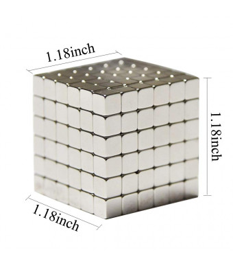 SANFENG Magnetic Cube 5mm, 216 PCS Magnets Sculpture Building Blocks Toys for Intelligence Development and Stress Relief