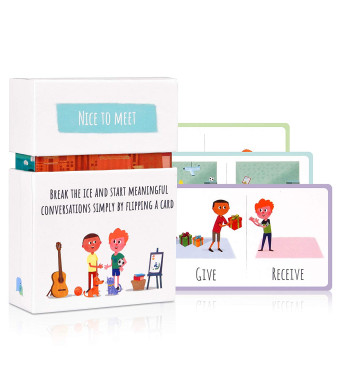 Feeloty - Nice to Meet Question Card Game for Kids - Table Topics Conversation Starter for The Entire Family