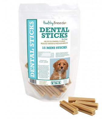 Healthy Breeds Triple Enzyme Dental Sticks - Vet Formulated to Control Plaque, Reduce Tartar Freshen Breath - Grain Free - Tasty Chicken Flavor - Large Minis Breed