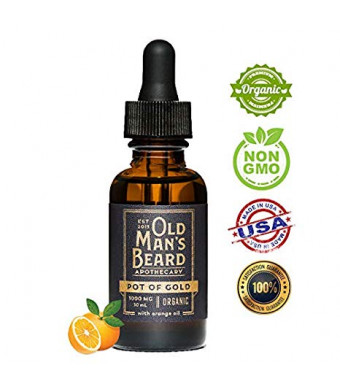 Pot Of Gold Full-Spectrum Pure Organic Hemp Extract by Old Man's Beard Apothecary  1,000 MG For Natural Relief from Pain and Anxiety And Deep Restful Sleep